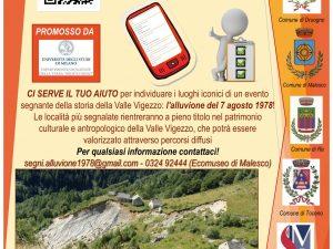 """Il progetto """"I segni dell'alluvione del 1978 in Valle Vigezzo: la popolazione racconta"""""""
